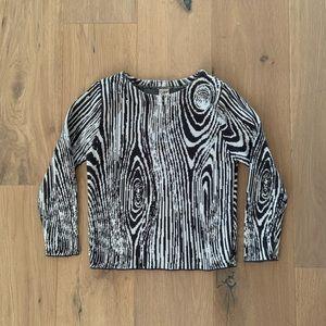 Popupshop Wood Print Sweater